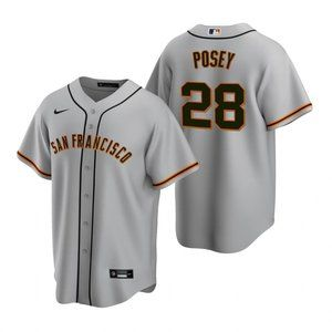 San Francisco Giants Buster Posey Jersey Gray